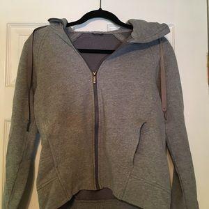 Women's grey lulu zip up